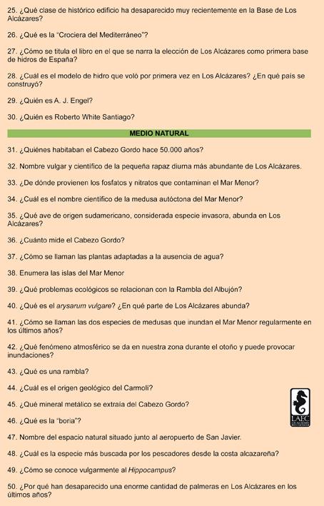 Preguntas del Concurso, pág. 2
