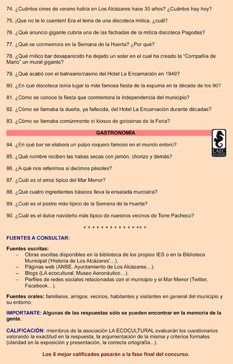 Preguntas del Concurso, pág. 4