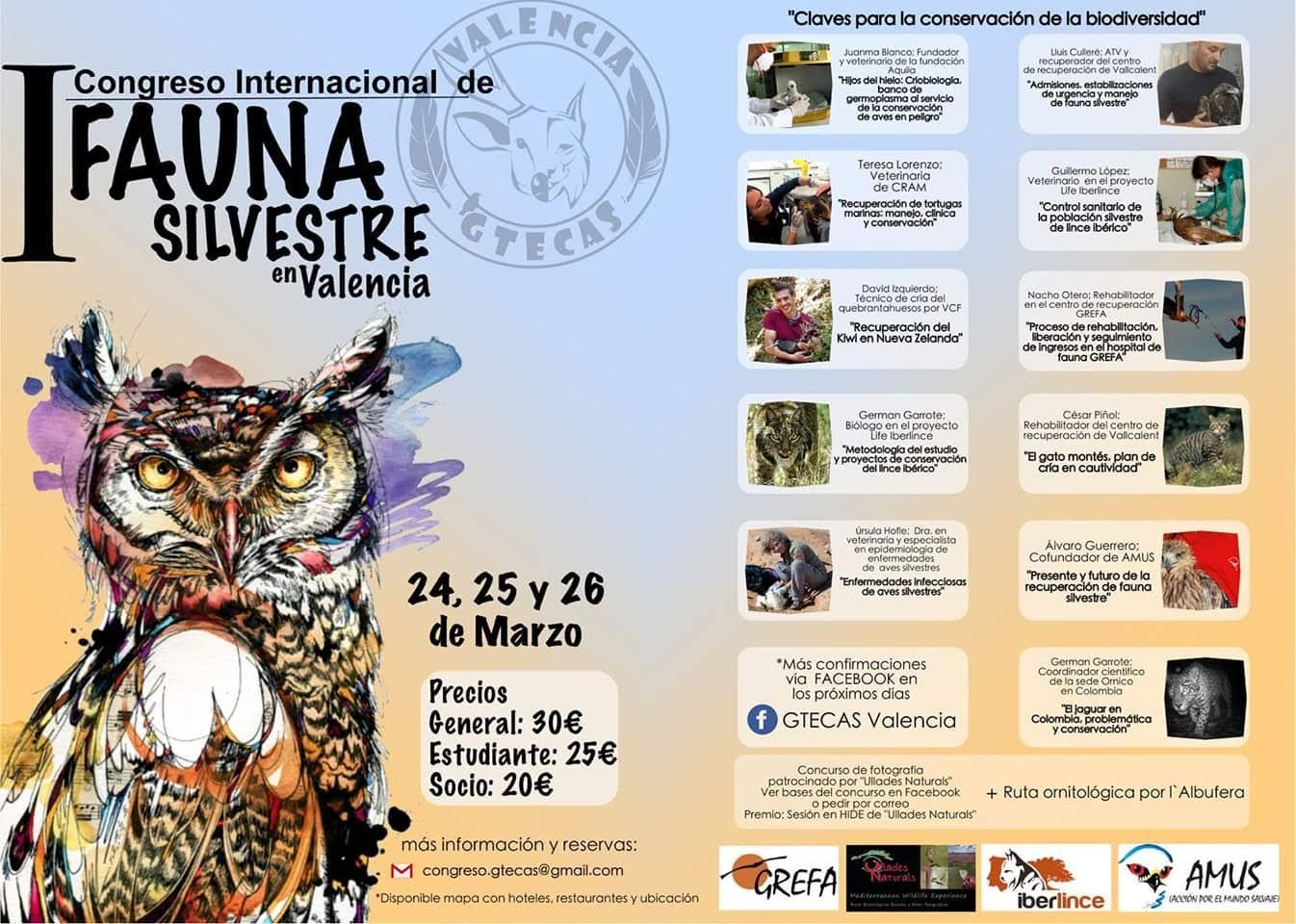 Congreso Internacional de Fauna Silvestre, con GTECAS Valencia