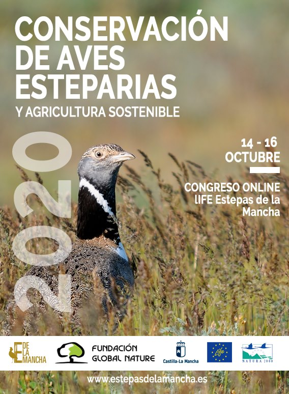 Congreso sobre Conservación de aves esteparias y agricultura sostenible, con Fundación Global Nature