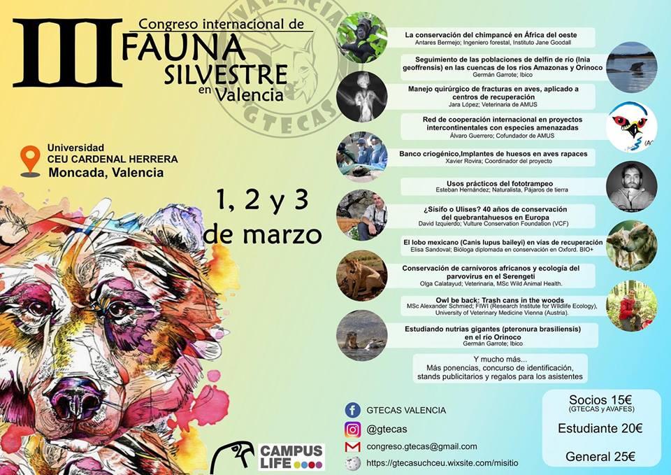 Congreso Internacional de Fauna Silvestre de Valencia, con Gtecas
