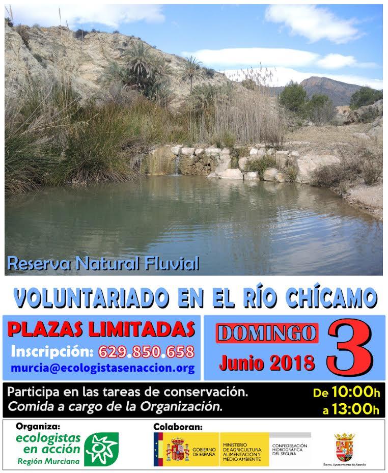 Conservación del río Chícamo, con EEA