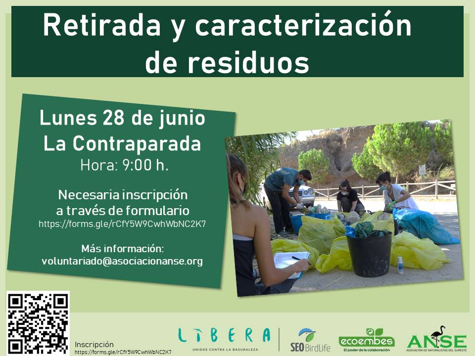 Retirada y clasificación de residuos en La Contraparada, con ANSE