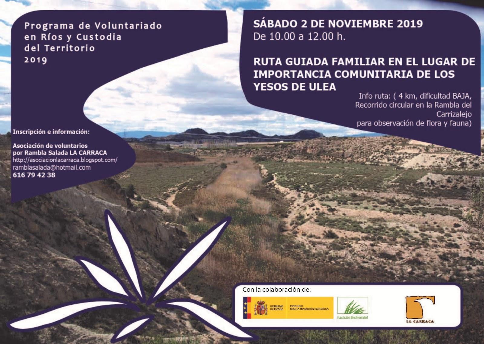 Ruta familiar en los yesos de Ulea, con La Carraca