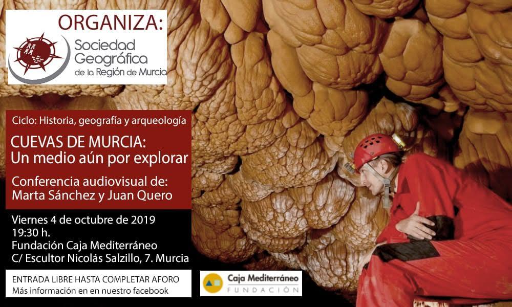 Charla sobre las cuevas de Murcia, con al SGRM