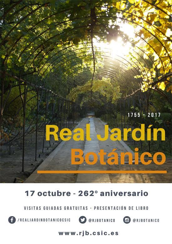 Cartel del 262 cumpleaños del Real jardín Botánico de Madrid