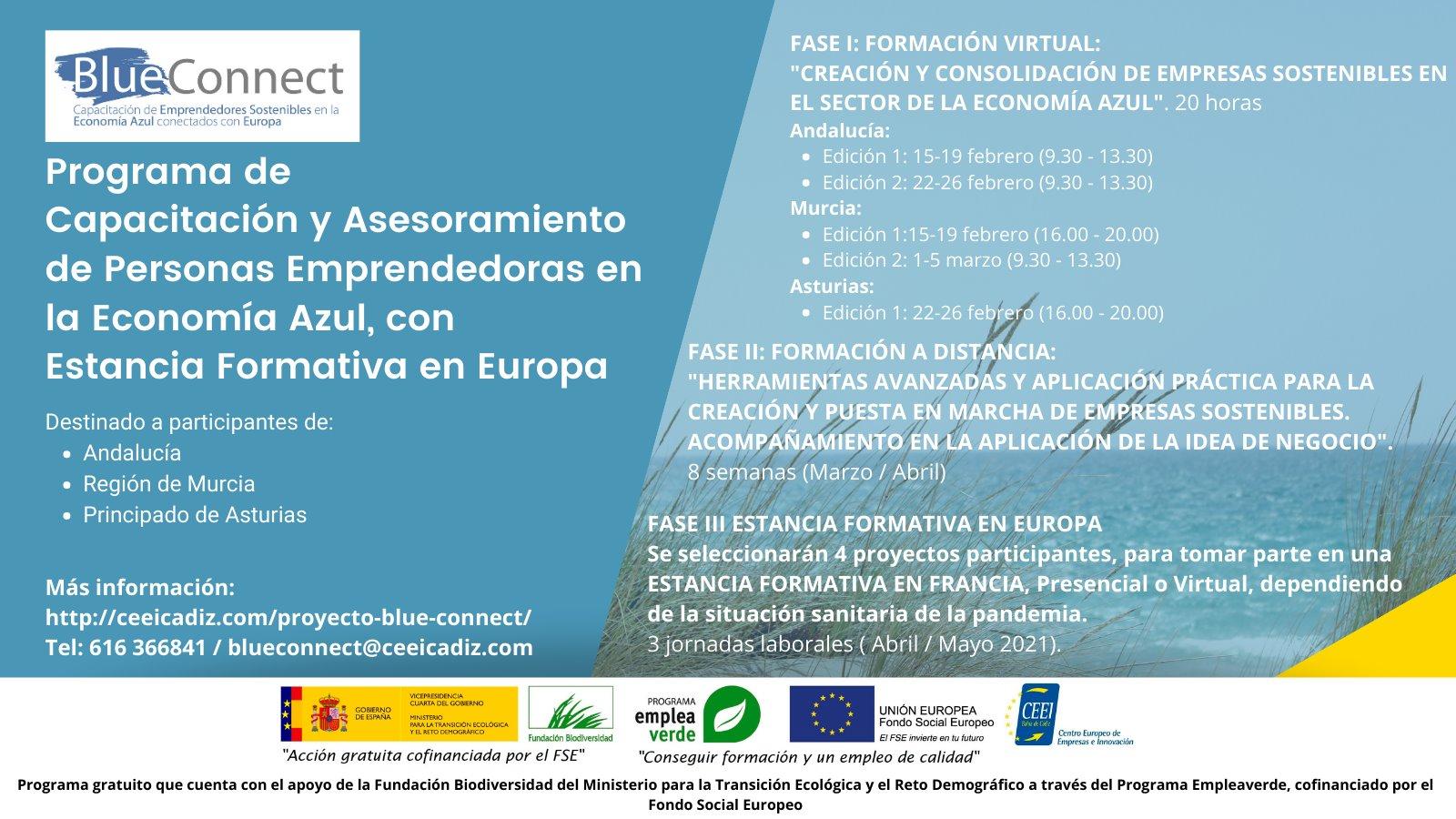 Curso de Asesoramiento en Emprendimiento Azul, con CEEI Bahía de Cádiz