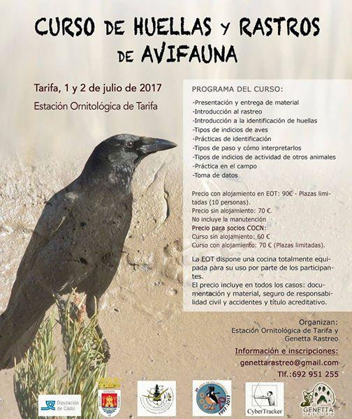 Curso de huellas y rastros de avifauna, con EOT