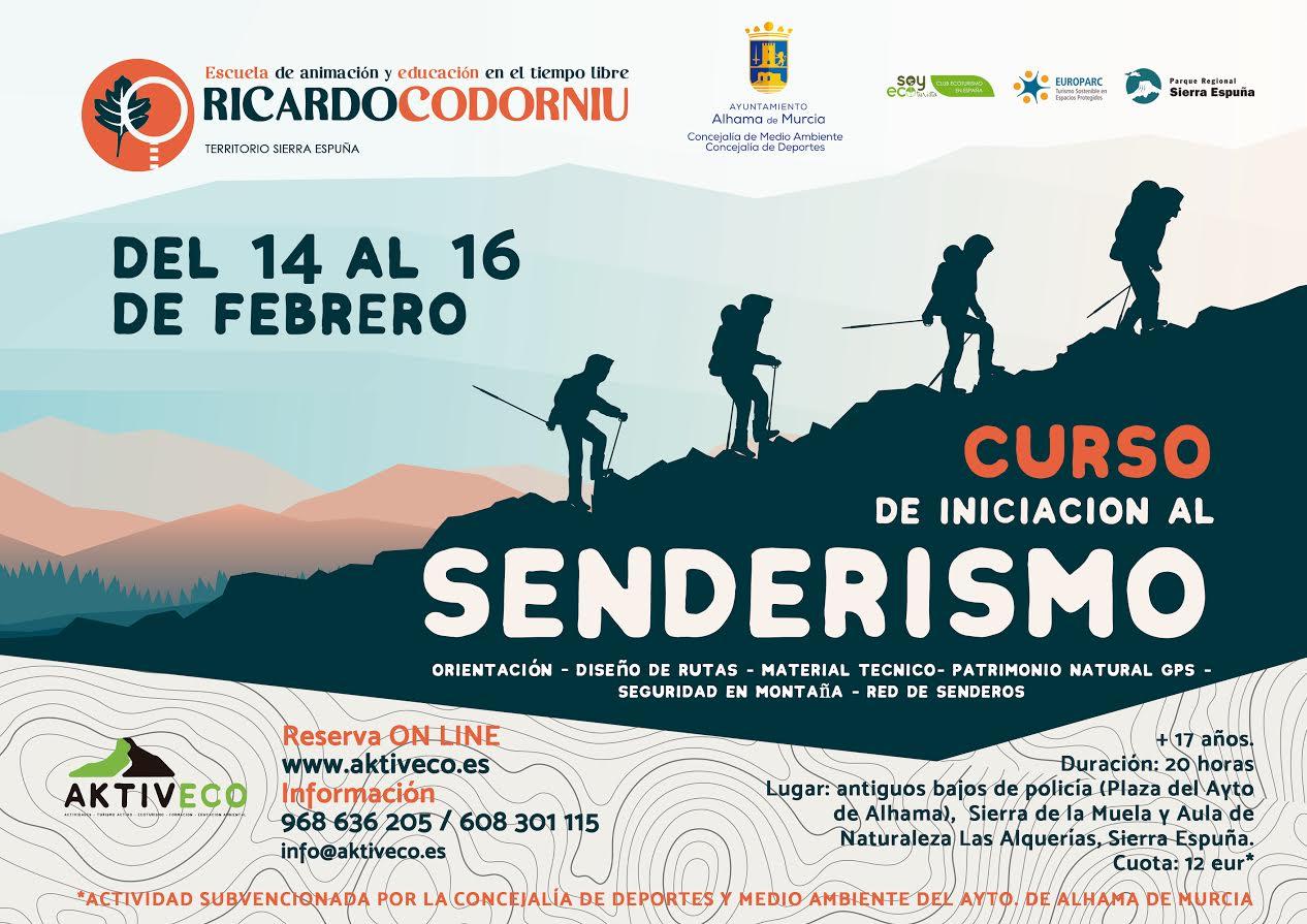 Curso de iniciación al senderismo, con la Escuela Ricardo Codorniu