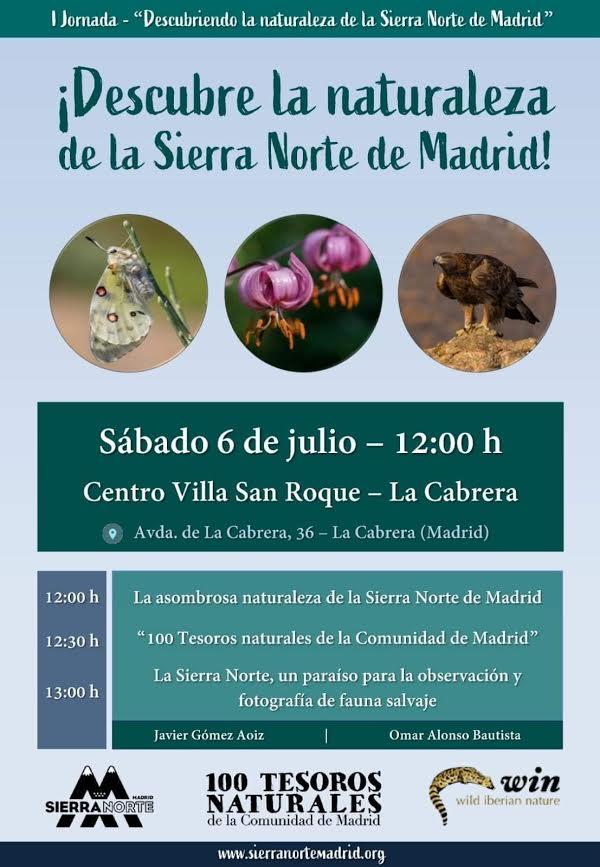 I Jornada 'Descubriendo la naturaleza de la Sierra Norte de Madrid', con Sierra Norte