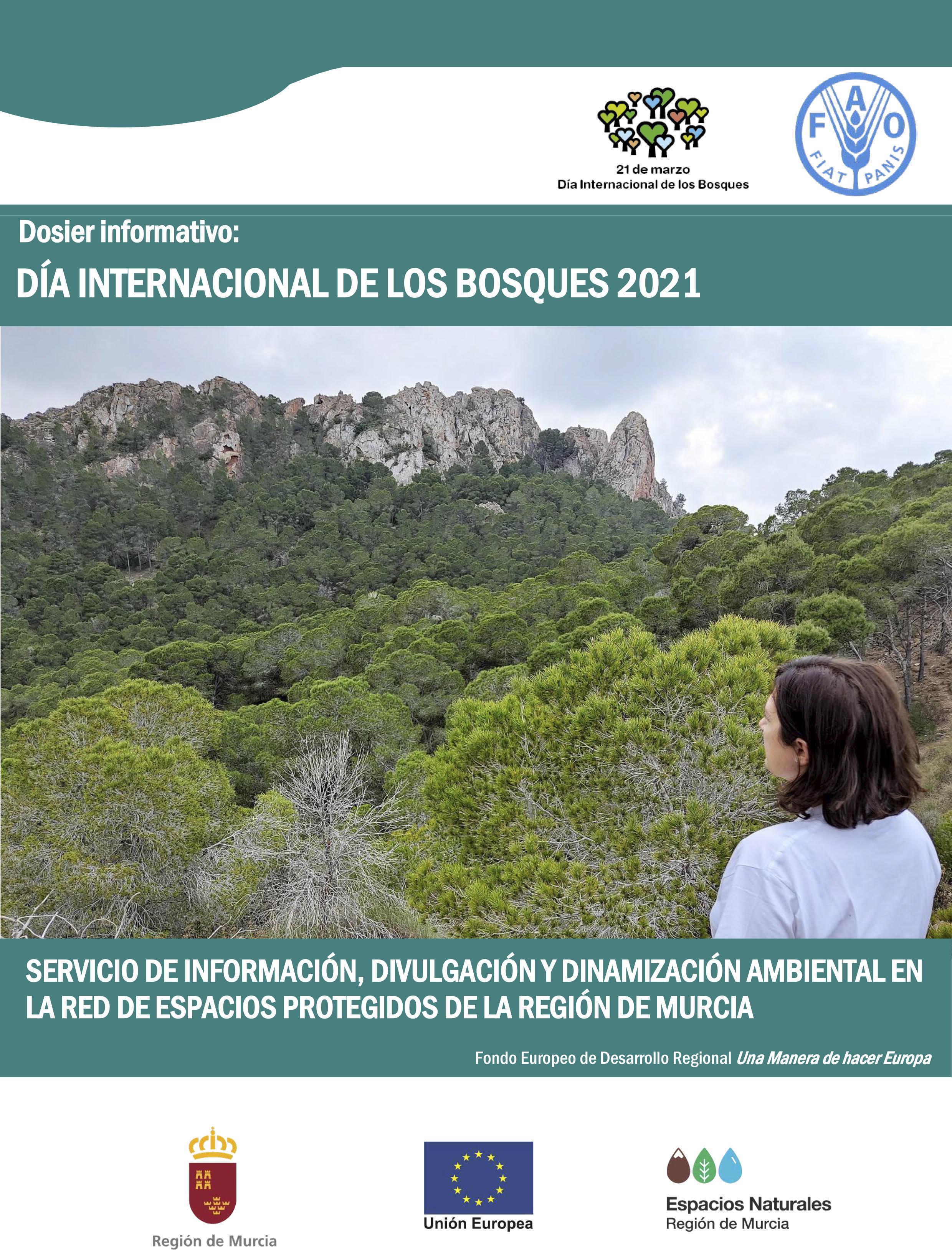 Portada del programa por el Día Internacional de los Bosques, de la CARM