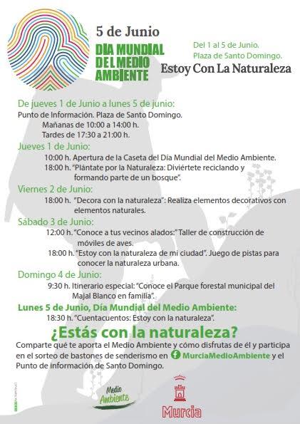 Programa de actividades por el Día Mundial del Medio Ambiente del Ayto. de Murcia