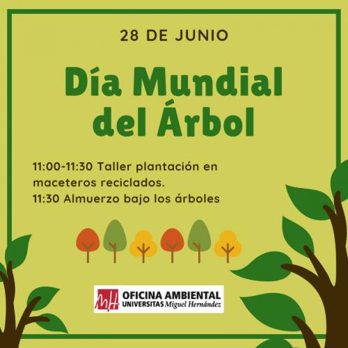 Día Mundial del Árbol, con la UMH