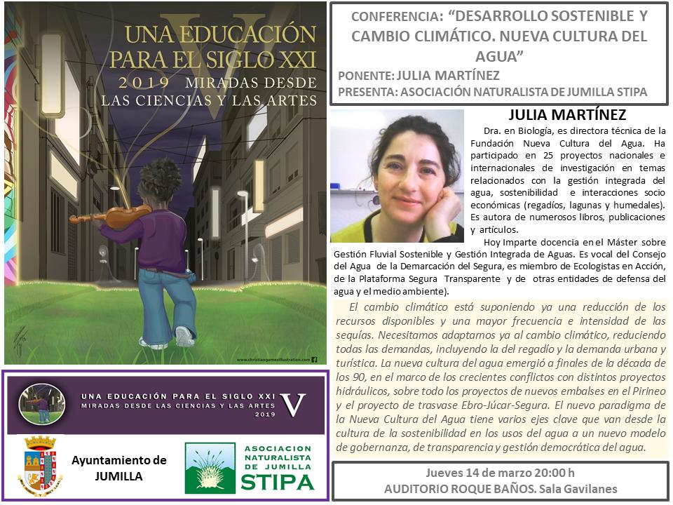 Conferencia ' Desarrollo sostenible y Cambio Climático', con Stipa