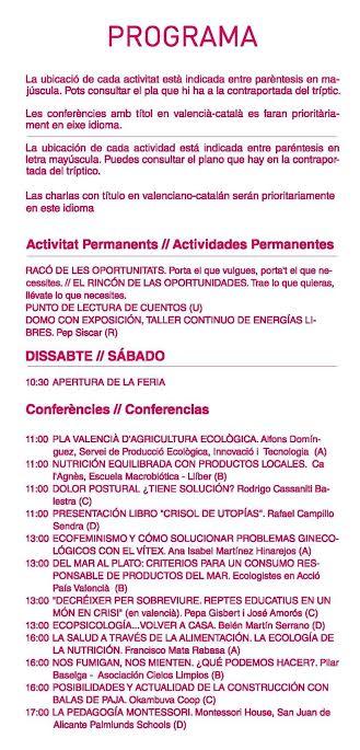 Feria Eco Altea Programa 1