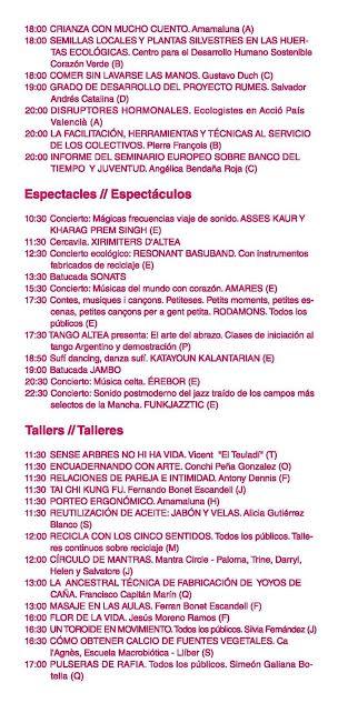 Feria Eco Altea Programa 2
