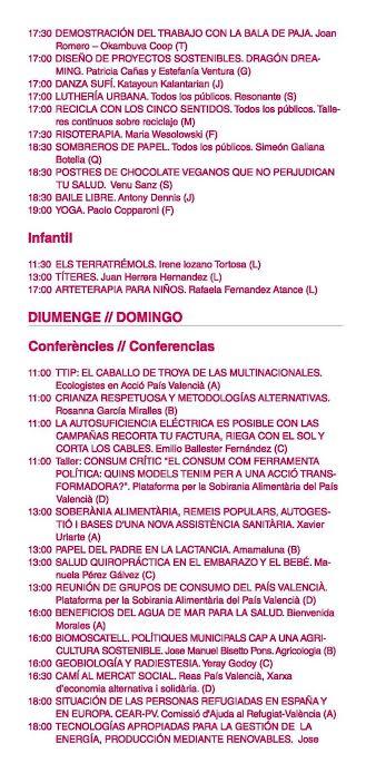 Feria Eco Altea Programa 3