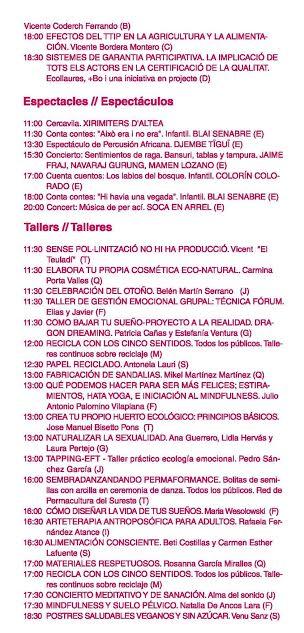Feria Eco Altea Programa 4
