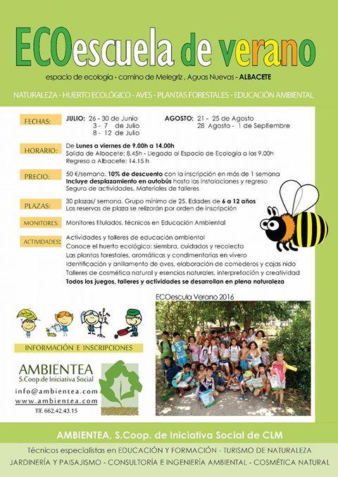 Programa de la Ecoescuela de Verano, con Ambientea