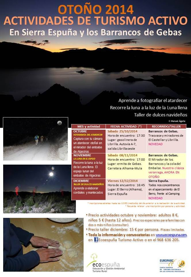 Actividades de Turismo Activo de otoño con Ecoespuña