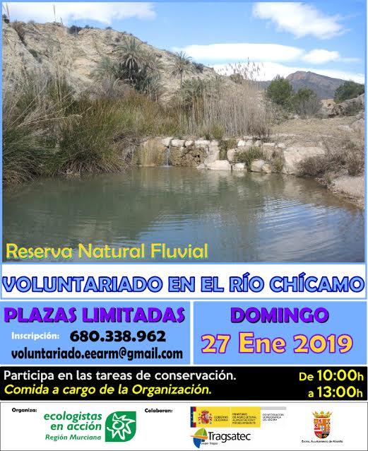 Jornada de Voluntariado en el Chícamo, con EEA REgión Murciana