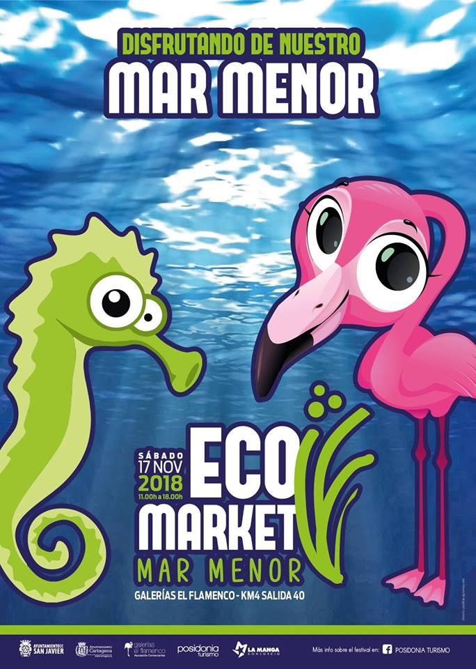 Ecomarket Mar Menor La Manga, con Posidonia Turismo y Galerías El Flamenco