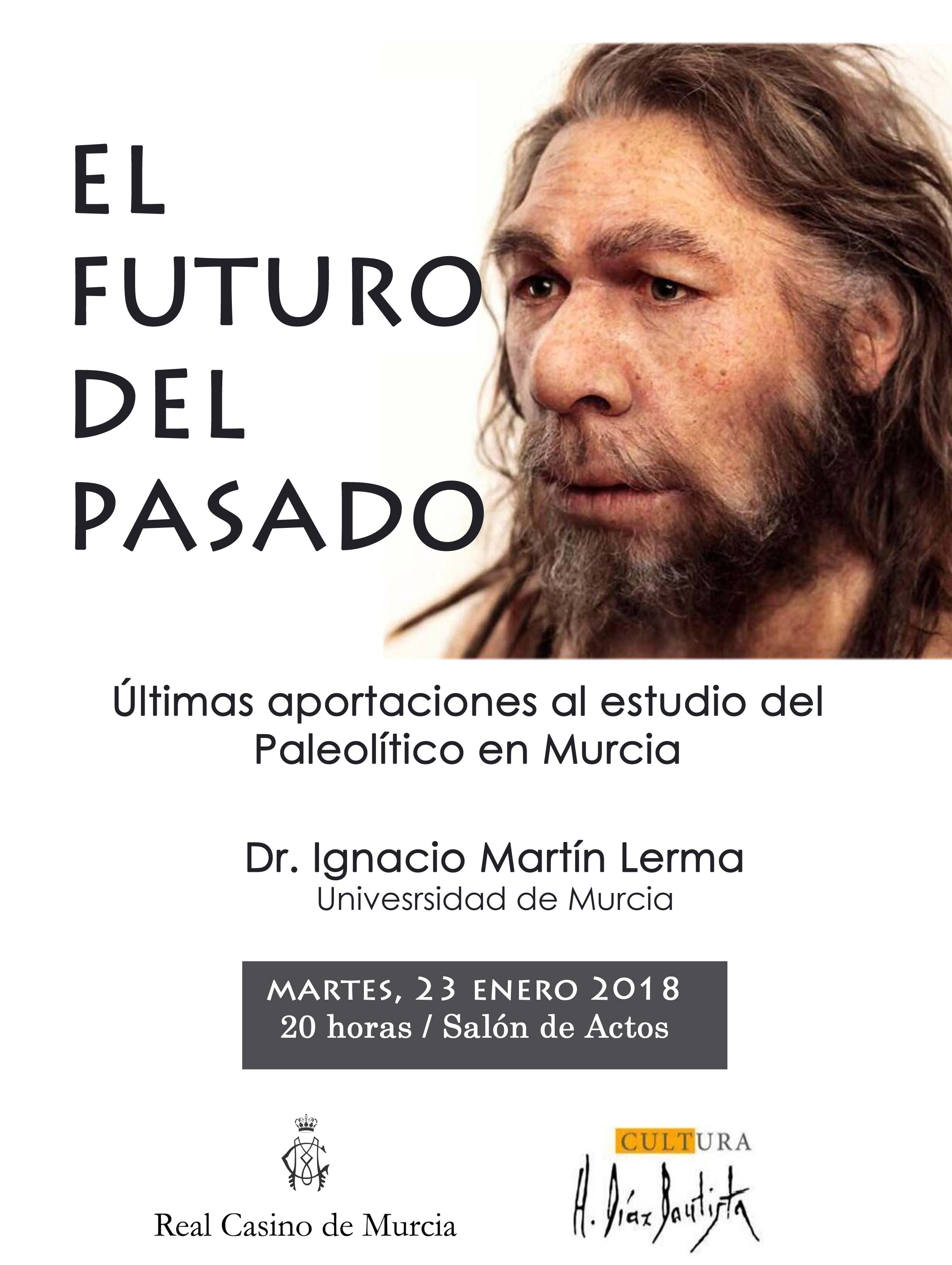 Charla sobre el Paleolítico en Murcia, con el Real Casino de Murcia