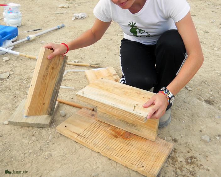 Elaboración de cajas nido para aves, con EeA