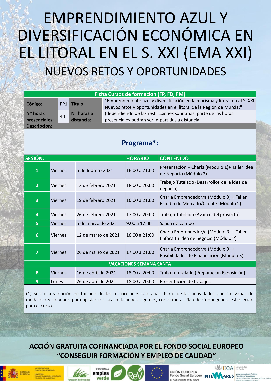 Curso 'Emprendimiento Azul y Diversificación Económica en el Litoral', UMU