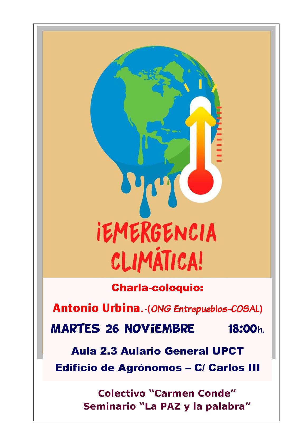 Charla sobre la Emergencia Climática, con el Colectivo Carmen Conde