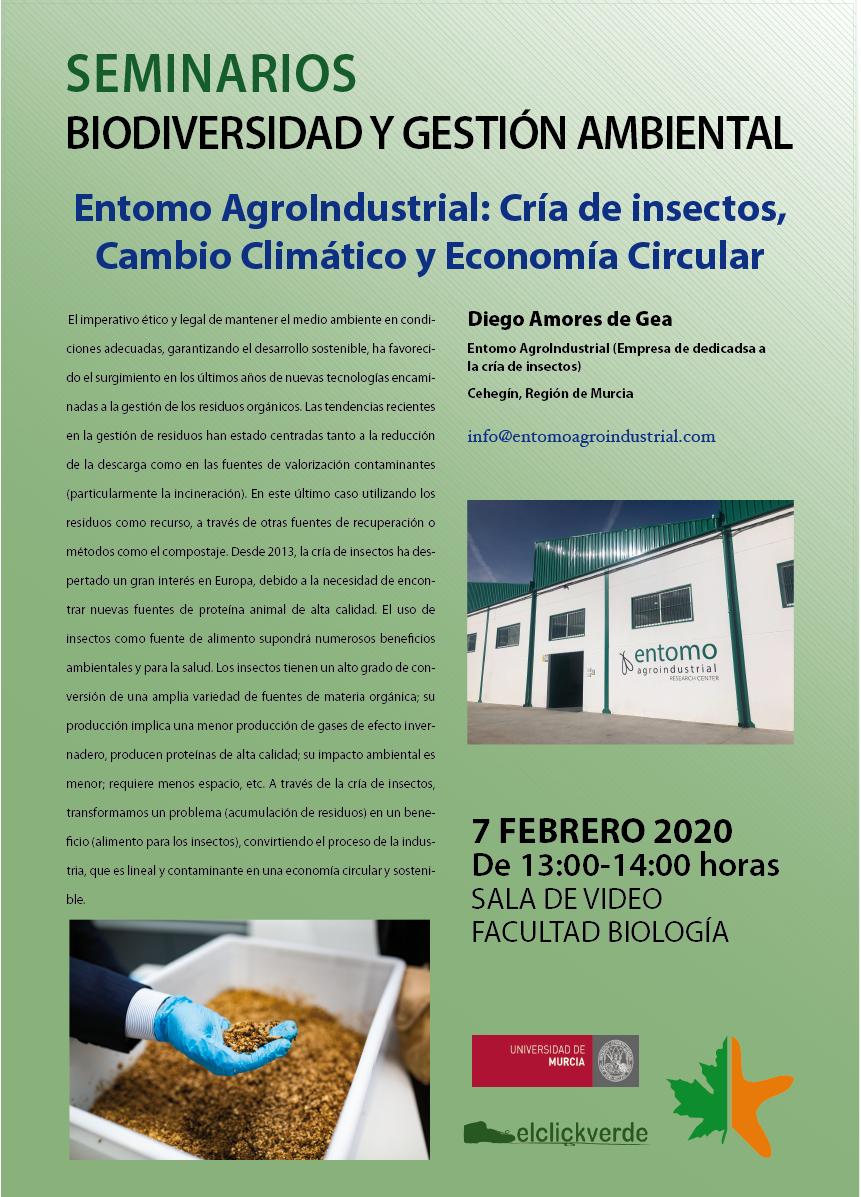 Charla sobre la cría de insectos y la economía circular, con la UMU