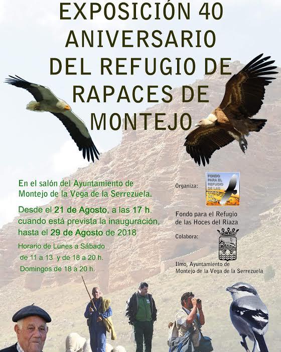 Expo 40 aniversario del refugio de rapaces de Montejo, con el Fondo para el Refugio de las Hoces de Riaza