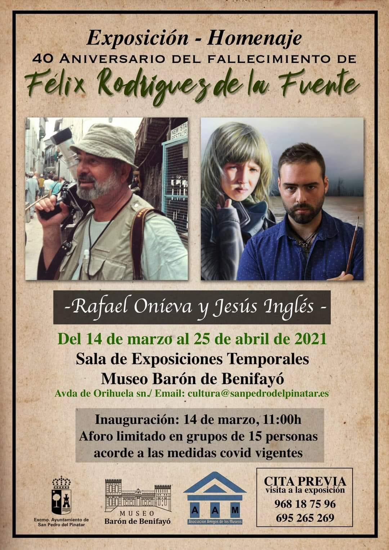 Cartel de la exposición - homenaje a Félix Rodríguez de la Fuente
