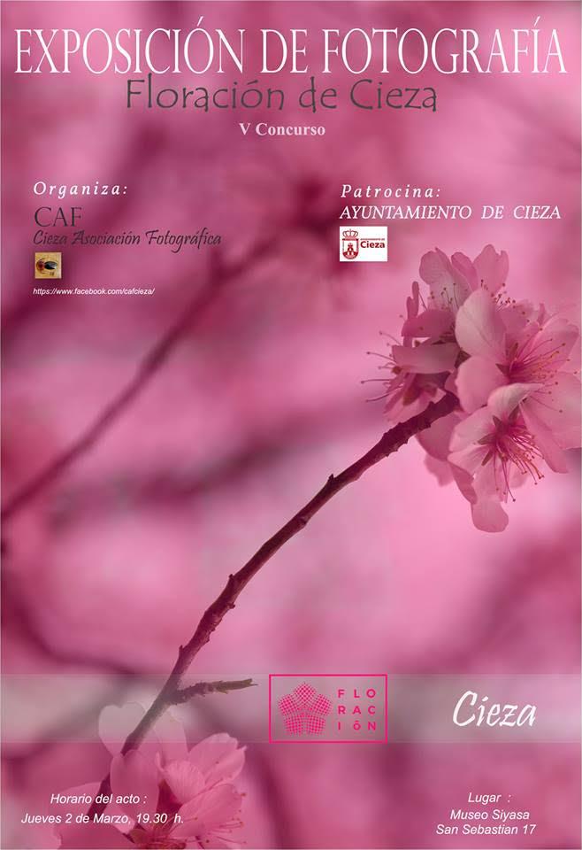 Expo de fotos sobre la floración de Cieza, con CAF cieza