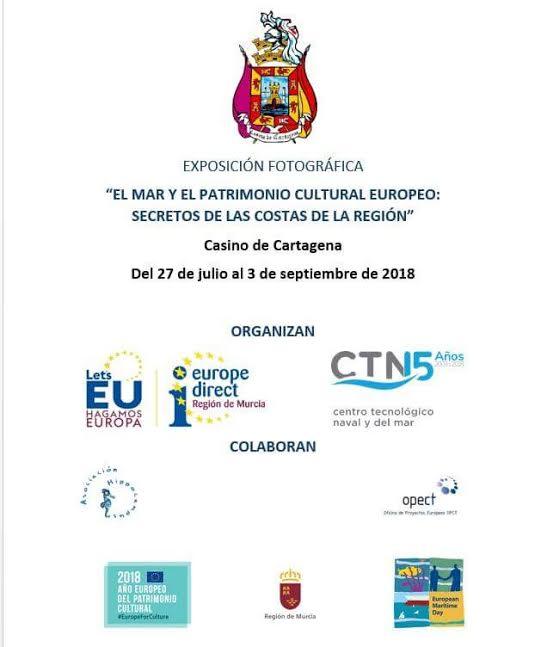 Exposición fotográfica 'El mar y el patrimonio cultural europeo: secretos de las costas de la Región', con CTN