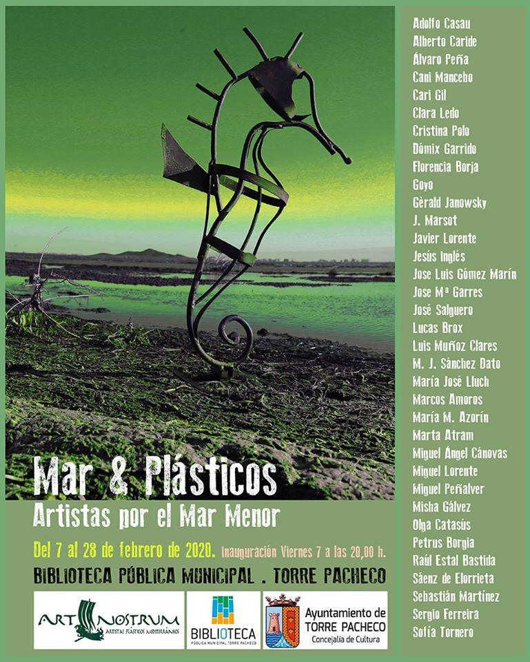 Expo 'Mar&Plásticos' sobre el Mar Menor, con Artistas por el Mar Menor