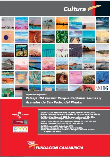 Exposición de pintura 'Paisaje. UM versus: Parque Regional Salinas y Arenales de San Pedro del Pinatar'.