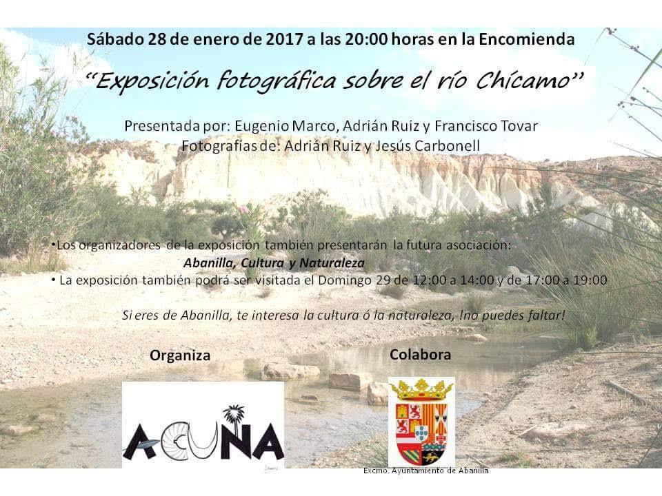 Expo de fotos sobre el río Chícamo, con Acuna