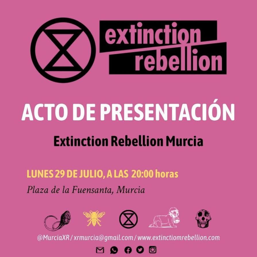 Presentación de Extinction Rebellion Murcia