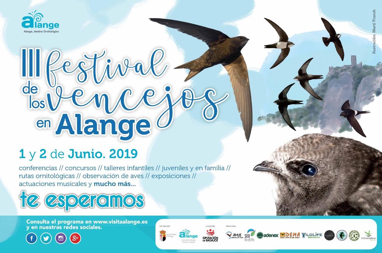 lll Festival de los vencejos en Alange , con el Ayto. de Alange