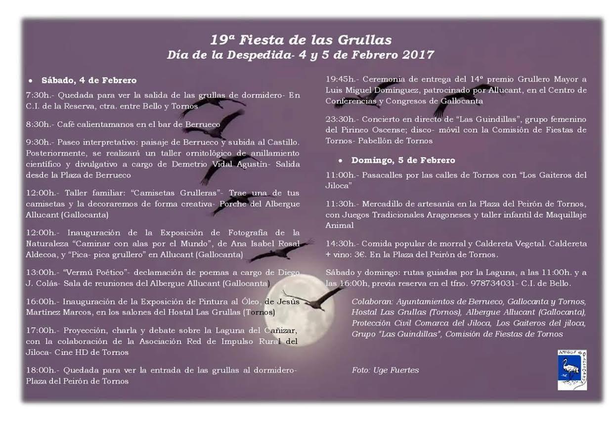19 Fiesta de Despedida de las Grullas, con Amigos de Gallocanta