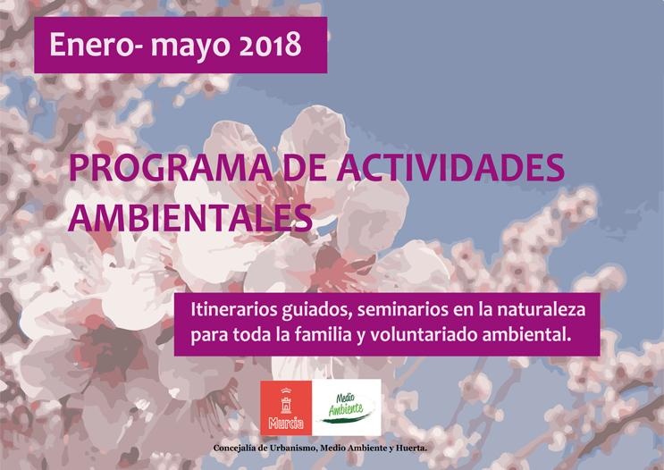 Cartel del programa de actividades ambientales del Ayto. de Murcia