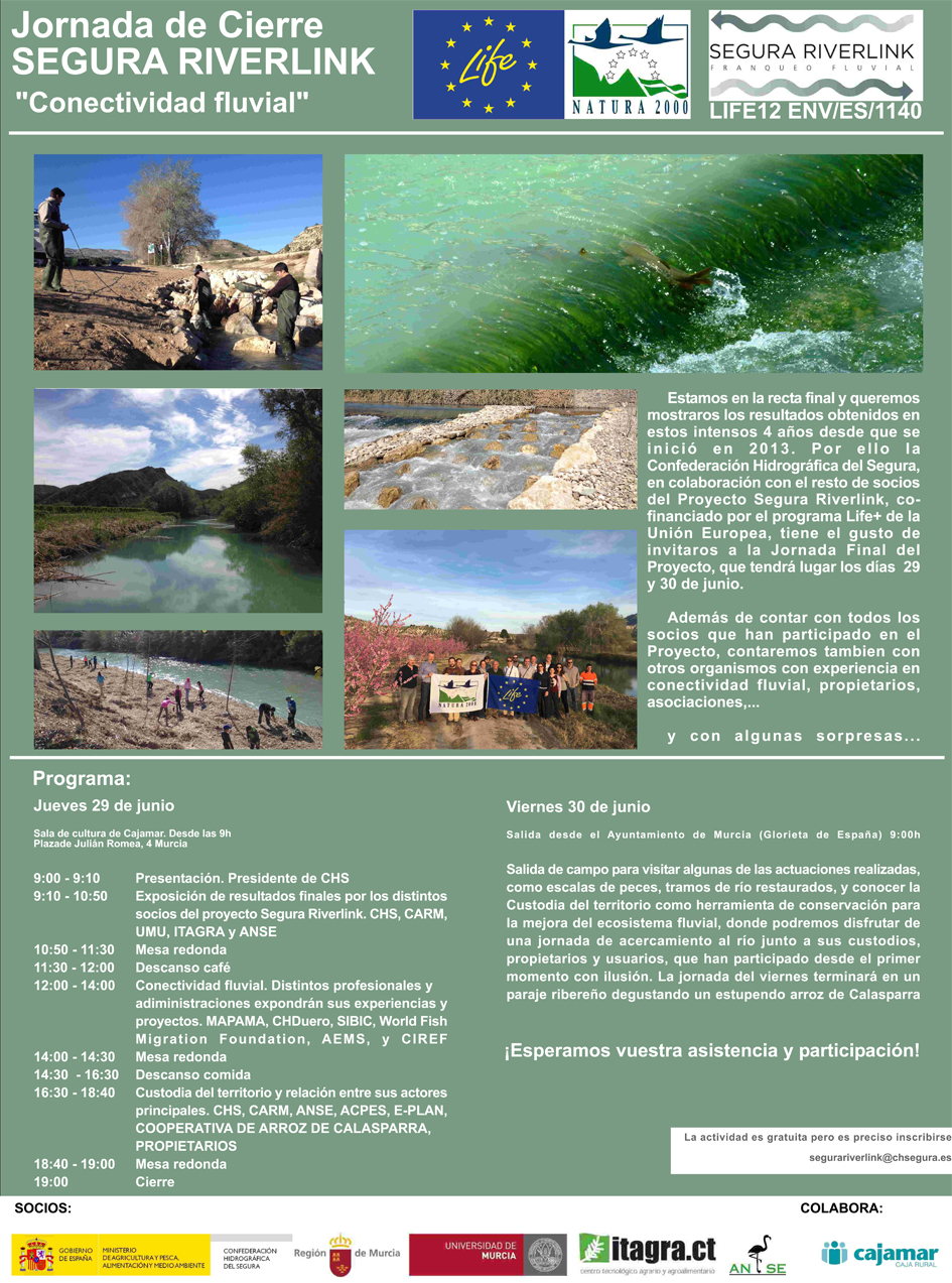 Jornada de clausura LIFE+ Segura Riverlink