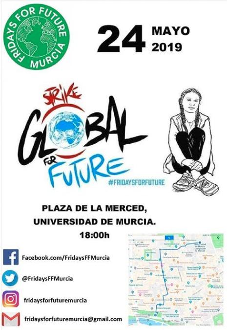 Cartel de la manifestación contra el Cambio Climático Fridays for Future