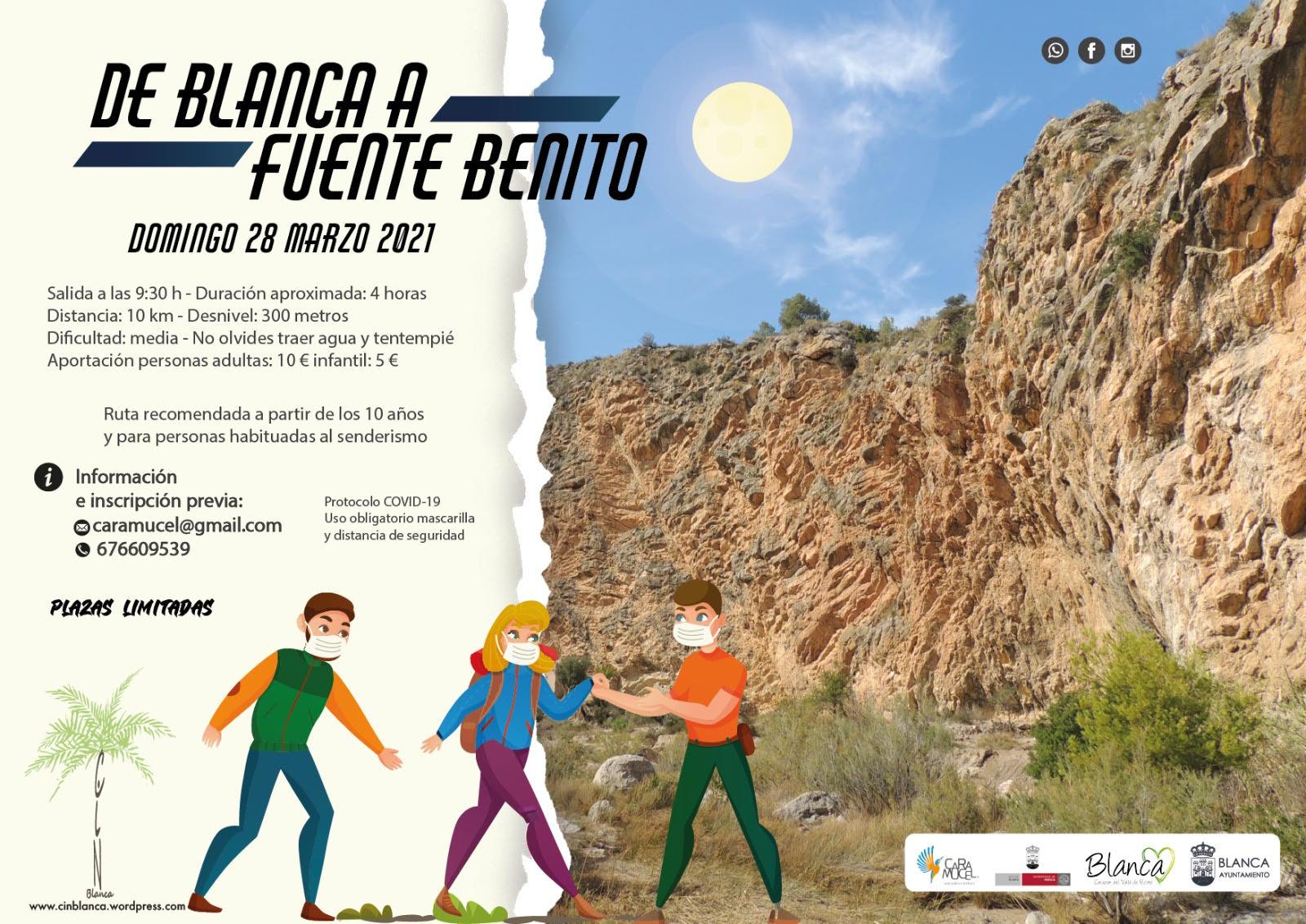 Ruta interpretativa 'De Blanca a Fuente Benito', con Caramucel