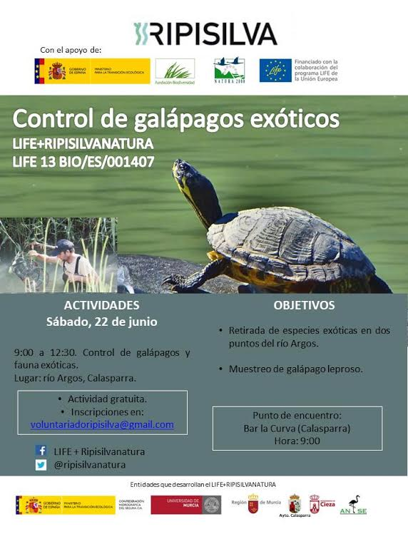Control de galápagos exóticos, con ANSE