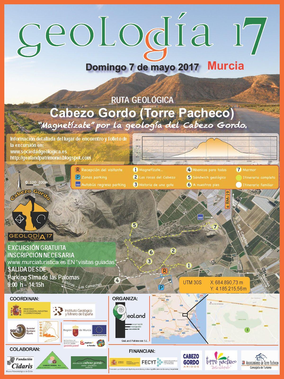 Geolodía Murcia 2017, con GeaLand