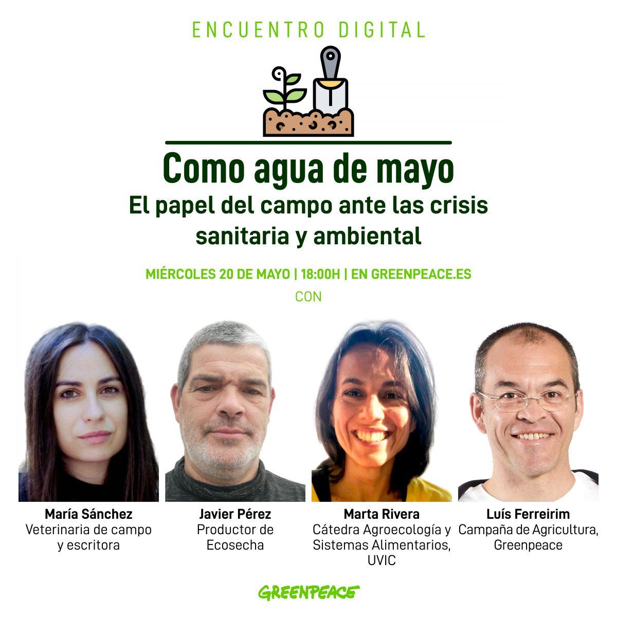 Encuentro digital: 'El papel del campo en las crisis sanitaria y ambiental', con Greenpeace