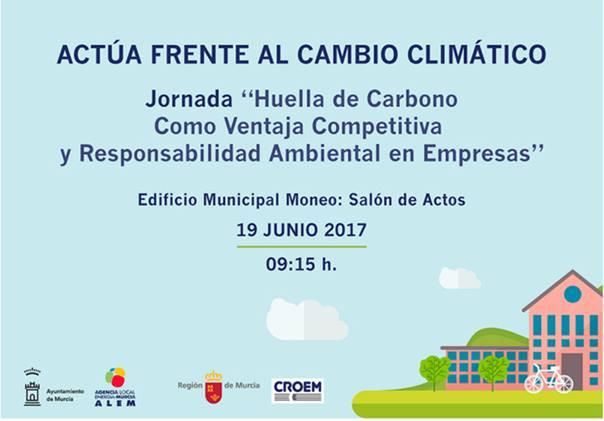 Jornada sobre la huella de carbono, con el Ayto. de Murcia
