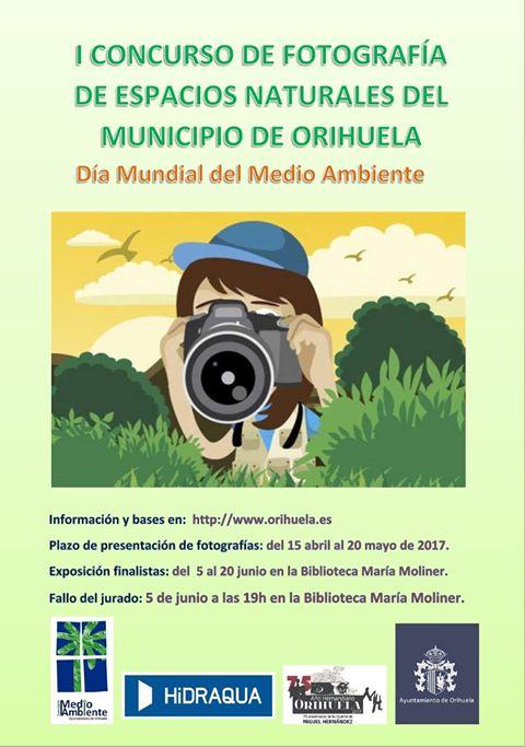 Concurso de fotos Espacios Naturales de Orihuela, con el Ayto. de Orihuela